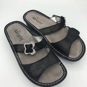 Alegria sparkle slip in shoes 37 7 7.5